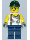 Minifig No: twn334  Name: Mechanic, Dark Green Cap, Dark Blue Legs