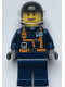Minifig No: twn375  Name: Helicopter Pilot - Dark Blue Suit with Harness