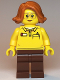 Minifig No: twn381  Name: Female, Toy Store Worker (LEGO logo on reverse of torso)