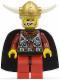 Minifig No: vik005  Name: Viking Warrior 5a, Viking King - Black Cape