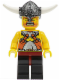 Minifig No: vik006  Name: Viking Warrior 6b - Dark Red Hips and Black Legs