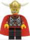 Minifig No: vik011  Name: Viking Warrior 5b, Viking King - Red Cape