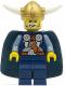 Minifig No: vik027  Name: Viking Blue Chess King - Horns Glued to Helmet