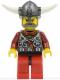 Minifig No: vik032  Name: Viking Red Chess Bishop - Horns Glued to Helmet