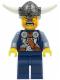 Minifig No: vik035  Name: Viking Blue Chess Pawn - Horns Glued to Helmet