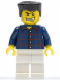 Minifig No: wc028  Name: Plaid Button Shirt, White Legs