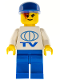 Minifig No: wc4457  Name: TV Logo Large Pattern on Front, Lego Soccer Logo on Back, Blue Legs, Blue Cap