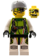 Minifig No: wr005  Name: Team X-treme Daredevil 2 (DEX-treme) - Sports Helmet