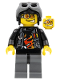 Minifig No: wr007  Name: Backyard Blaster 3 (Billy Bob Blaster) - Aviator Cap
