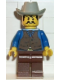 Minifig No: ww013  Name: Cowboy Blue Shirt