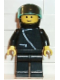 Minifig No: zip003  Name: Jacket with Zipper - Black, Black Legs, Black Helmet, Trans-Light Blue Visor