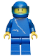 Minifig No: zip004  Name: Jacket with Zipper - Blue, Blue Legs, Blue Helmet, Trans-Light Blue Visor
