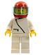 Minifig No: zip006  Name: Jacket with Zipper - White, White Legs, Red Helmet, Trans-Light Blue Visor