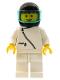 Minifig No: zip007  Name: Jacket with Zipper - White, White Legs, Black Helmet, Trans-Light Blue Visor