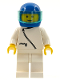 Minifig No: zip008  Name: Jacket with Zipper - White, White Legs, Blue Helmet, Trans-Light Blue Visor
