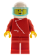 Minifig No: zip009  Name: Jacket with Zipper - Red, Red Legs, White Helmet, Trans-Light Blue Visor