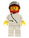 Minifig No: zip012  Name: Jacket with Zipper - White, White Legs, Red Helmet, Black Visor