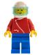 Minifig No: zip013  Name: Jacket with Zipper - Red, Blue Legs, White Helmet, Trans-Light Blue Visor