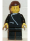 Minifig No: zip015  Name: Jacket with Zipper - Black, Black Legs, Brown Male Hair
