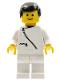Minifig No: zip018  Name: Jacket with Zipper - White, White Legs, Black Male Hair