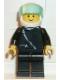 Minifig No: zip020  Name: Jacket with Zipper - Black, Black Legs, White Helmet, Trans-Light Blue Visor