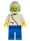 Minifig No: zip027  Name: Jacket with Zipper - White, Blue Legs, White Helmet, Trans-Light Blue Visor
