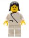 Minifig No: zip032  Name: Jacket with Zipper - White, White Legs, Black Female Hair