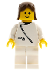 Minifig No: zip033  Name: Jacket with Zipper - White, White Legs, Brown Female Hair