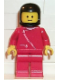 Minifig No: zip044  Name: Jacket with Zipper - Red, Red Legs, Black Classic Helmet