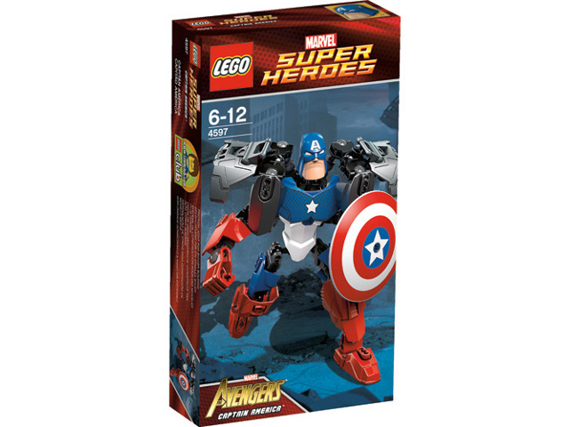 BrickLink - Original Box 4597-1 : Lego Captain America [Super  Heroes:Buildable Figures:Avengers] - BrickLink Reference Catalog
