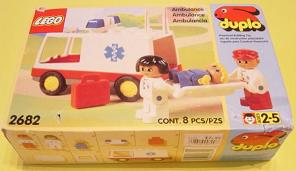 Bricklink Set 2682 1 Lego Ambulance Duploduplo Townhospital