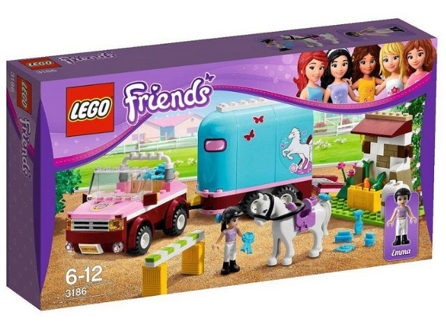 Bricklink Set 3186 1 Lego Emmas Horse Trailer Friends