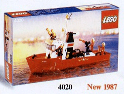 Fire Fighting Boat Lego® Custom Sticker for Boat Fire set 4020 1987