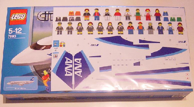 Bricklink Set 7893 2 Lego Passenger Plane Ana Version Town