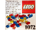 Original Box No: 1072  Name: Supplementary LEGO Set