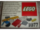 Original Box No: 1077  Name: Supplementary Set for 1050
