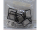Original Box No: 3448  Name: 1 x 4 x 5 Black Window Frames with Clear Panes