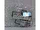 Original Box No: 3449  Name: 1 x 4 x 6 Black Door Frame with Transparent Blue Panes