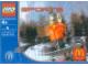 Original Box No: 7922  Name: McDonald's Sports Set Number 6 - Orange Vest Snowboarder polybag