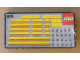 Original Box No: 874  Name: Yellow Beams with Connector Pegs