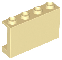 Hollow Studs Red 10 NEW LEGO Panel 1 x 4 x 3 with Side Supports