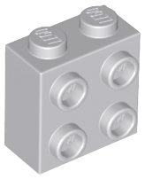 1301 Lego Brick 1x2 Round White 8 Piece