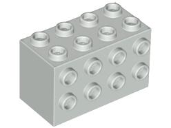 NEW!!! Lego 2x Black Brick Modified 2x4x2 with studs on sides 2434