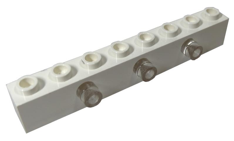 LEGO White Brick 1x8 10 to 50 Pieces