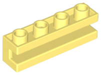 Lego 2653 Brick 4x Modified 1 x 4 with Groove Black