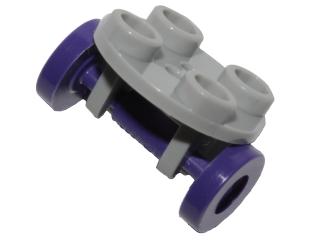 Round 2x2 thin wheel holder Plate Lego 2655c02-2x Roue Light B Gray NEUF
