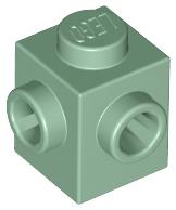 Lego 4x brick brick modified 1x1x1 2 plots studs knobs dark green 32952 new