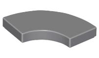 Lego 4x smooth plate tile round corner macaroni 2x2 black//black 27925 new