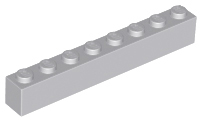 8x Brique Brick 1x1 hole gris//light bluish gray 6541 NEUF Lego Technic