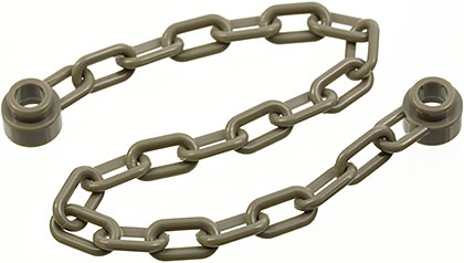 Lego 20 New Transparent Orange 21 Chain Link Chains Pieces